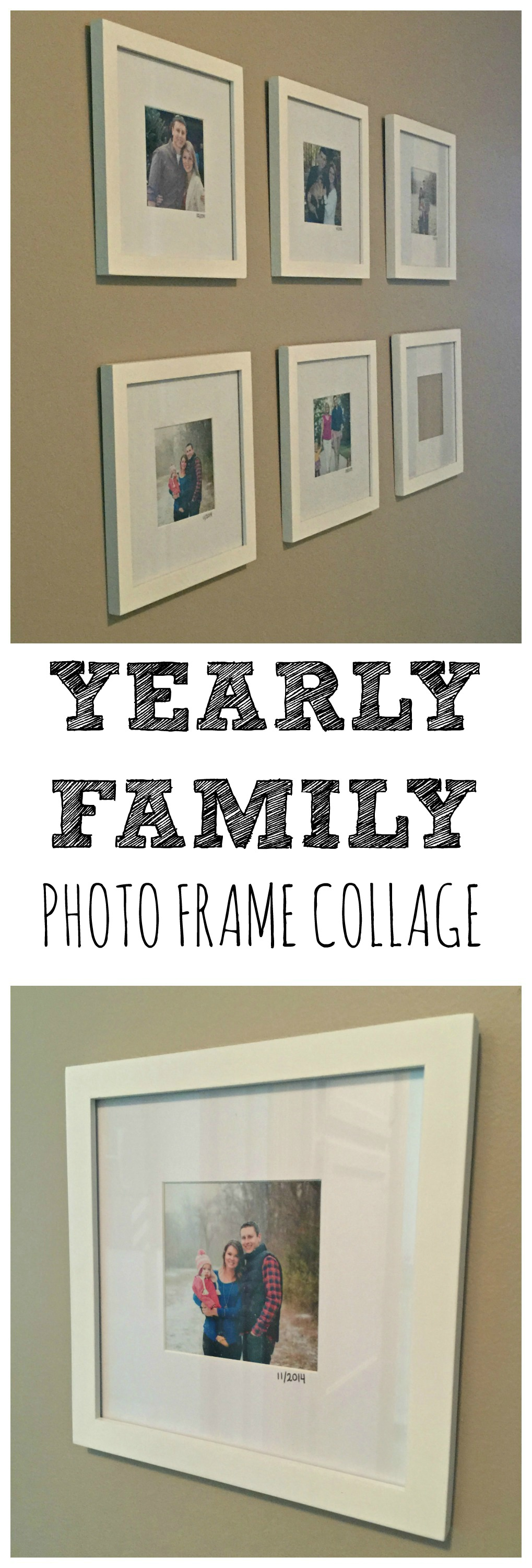 Hallway Decor Our Growing Family Photo Collage