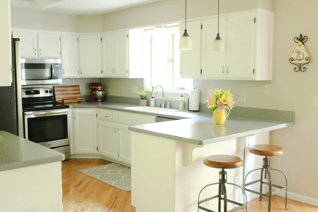 Chalk Painted Kitchen Cabinets: From Honey Oak to White