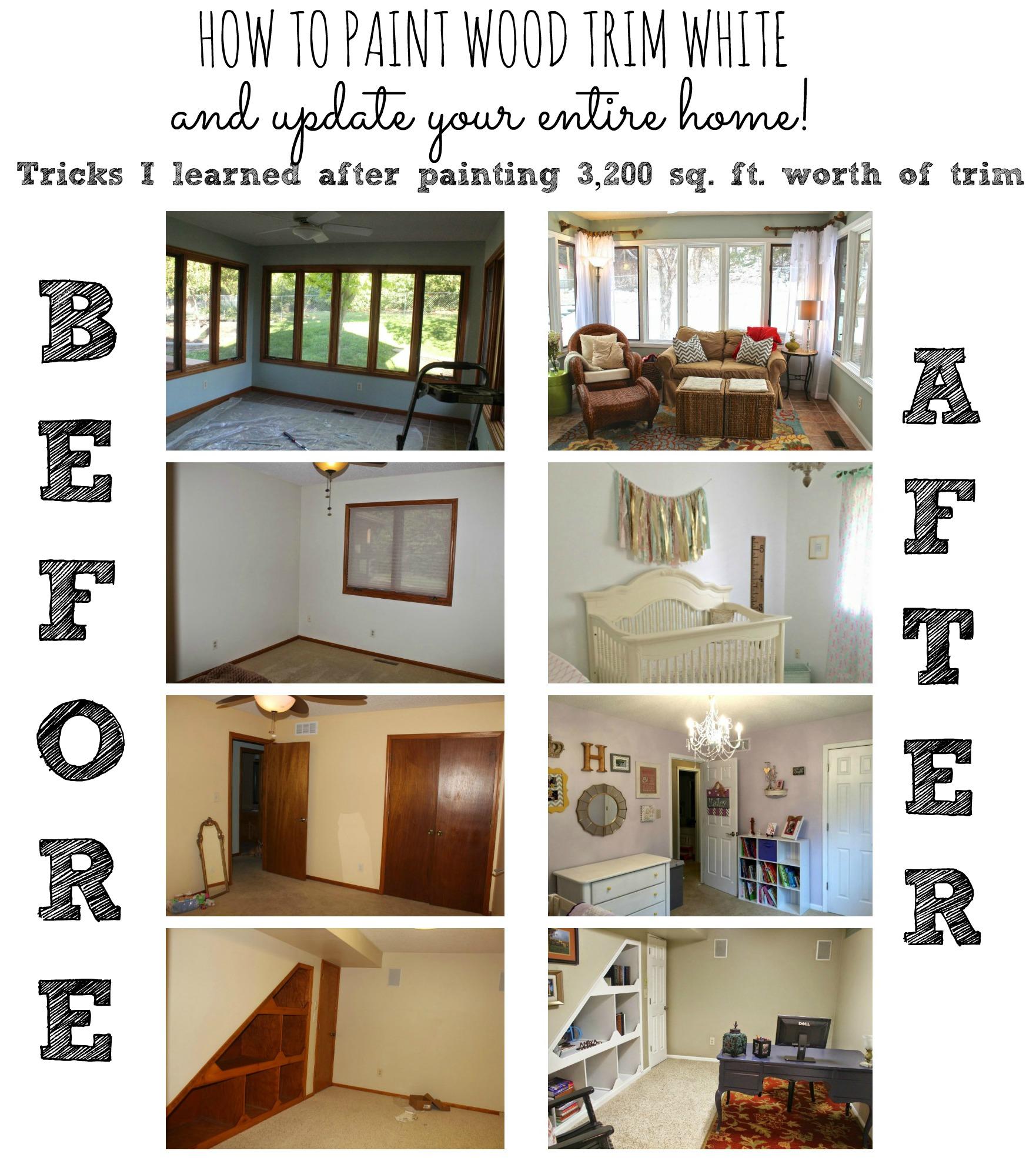 how to paint trim. Black Bedroom Furniture Sets. Home Design Ideas